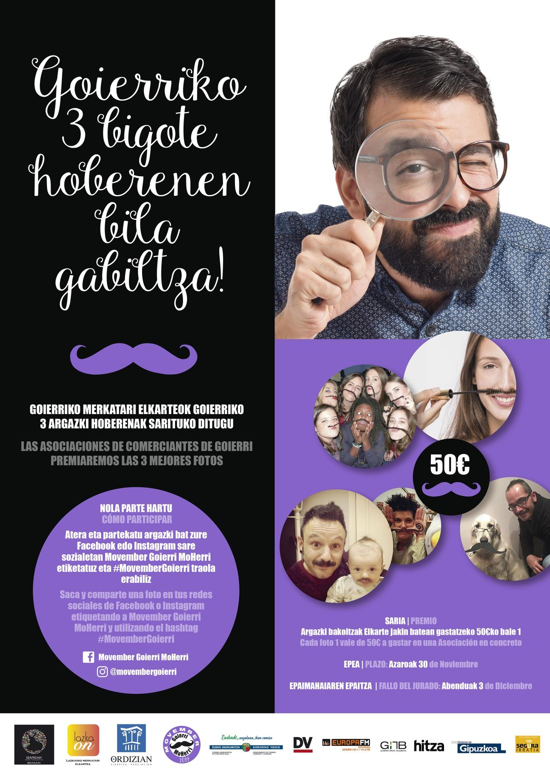 cartel Goierriko bigoteak